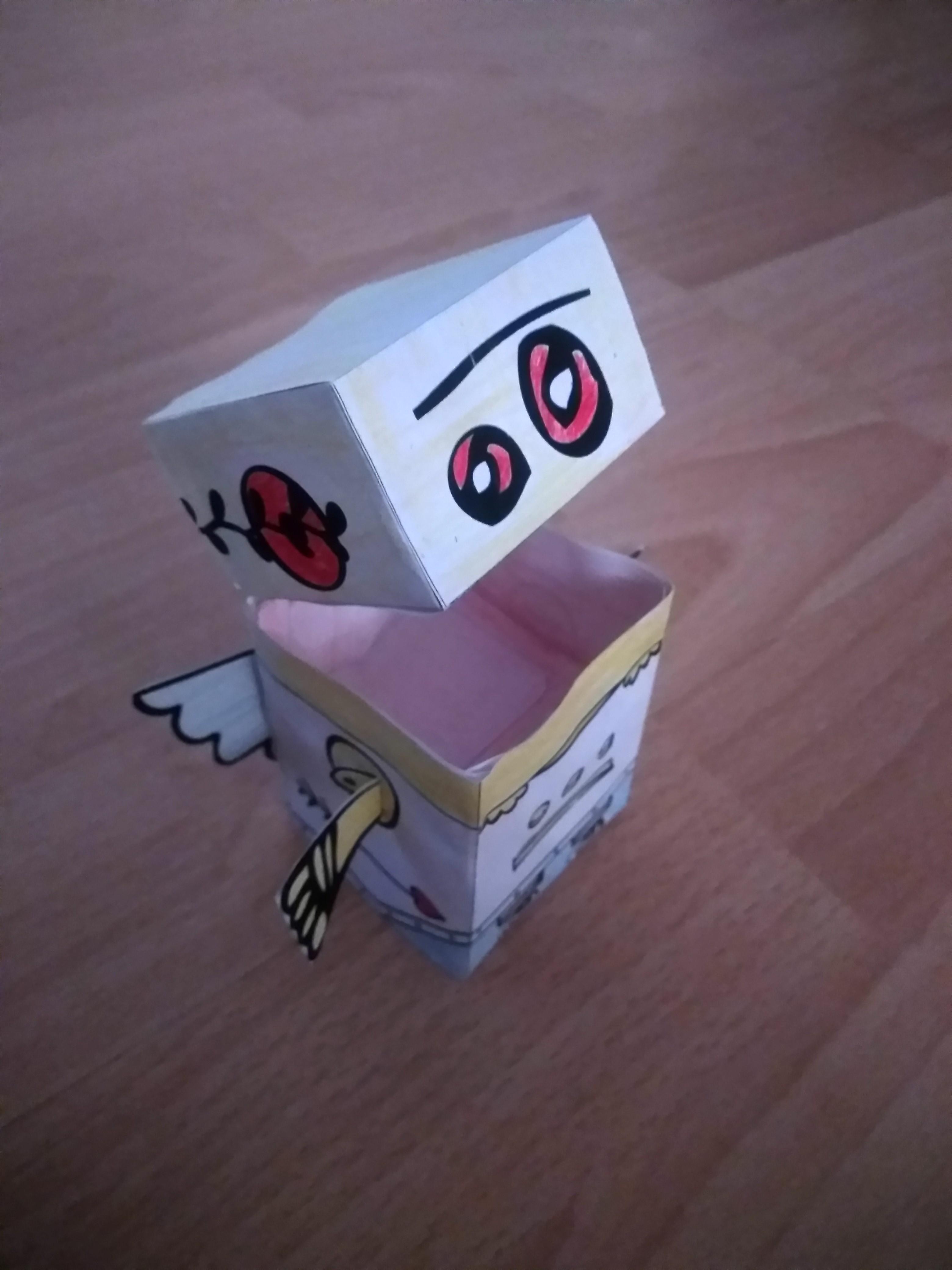 Valentine's Day Papercraft - Robot Cupid