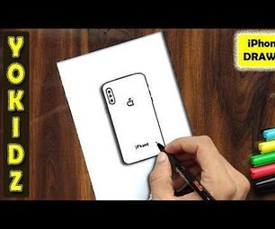 HOW TO DRAW APPLE IPHONE X
