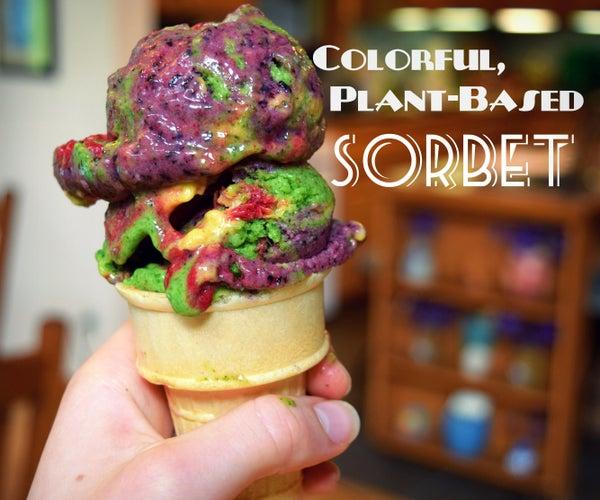 Plant-based Colorful Sorbet