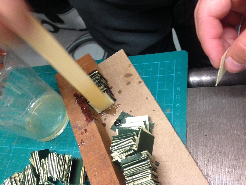 Gluing the Pen Blank