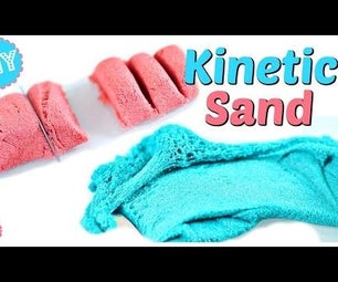 "DIY KINETIC SAND! JUST LIKE REAL KINETIC SAND! AMAZING SAND ""SLIME""!"
