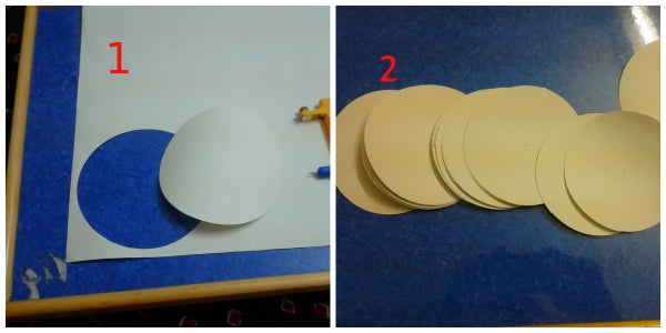 Preparing the Fundamental Part of Lamp, That Is Cuttings of Circles
