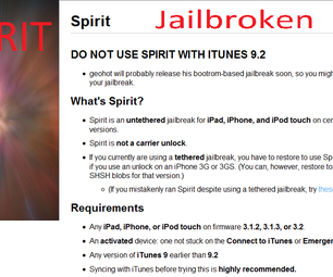 Jailbreak Your Ipod Touch, IPad or IPhone on 3.1.3 Firmware