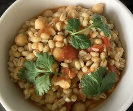 Pearl Barley and Chickpeas