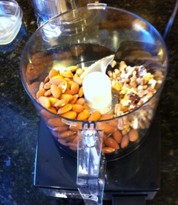 GRIND THE BROWN ALMOND AND WALNUTS