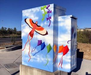 彩绘效用盒公共艺术/壁画