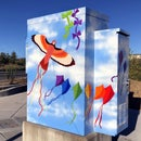 Painted Utility Box Public Art/Mural