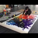 Abstract Impressionist Mural