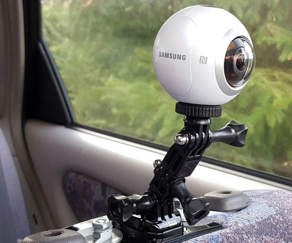 GoPro / Gear 360 Car Headrest Mount