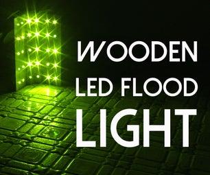 WOODEN LED FLOOD LIGHT