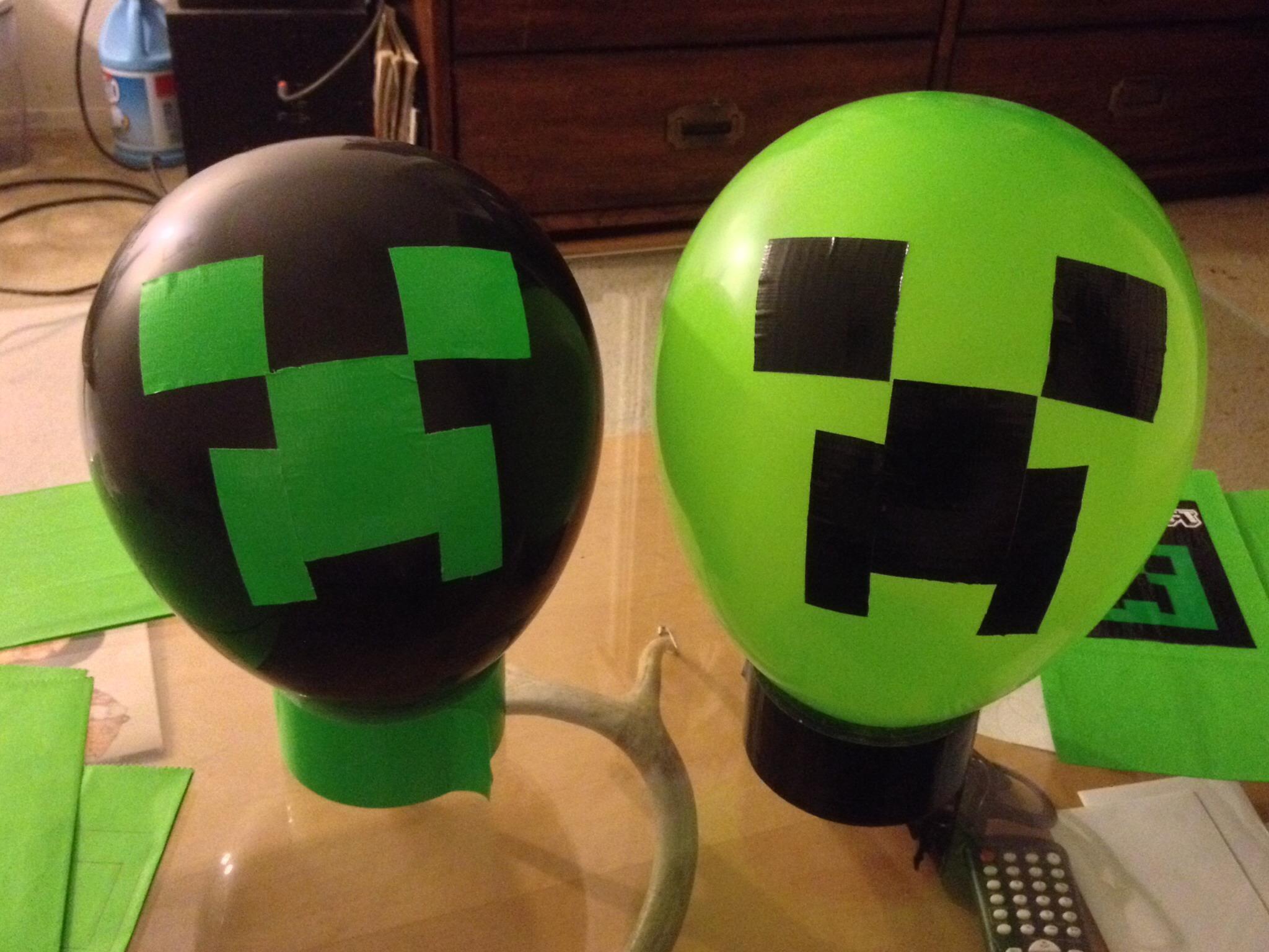 Minecraft Creeper Balloons