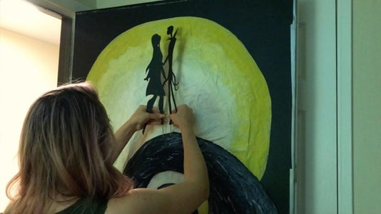 Cutting & Staking the Silhouette