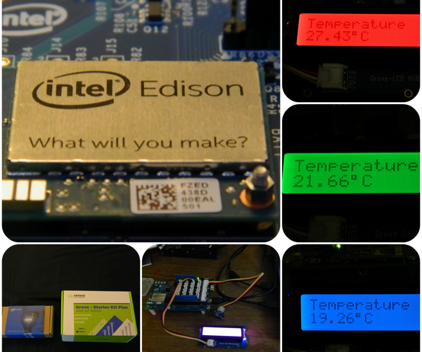 Intel Edison Temperature Logger With RBG-LCD