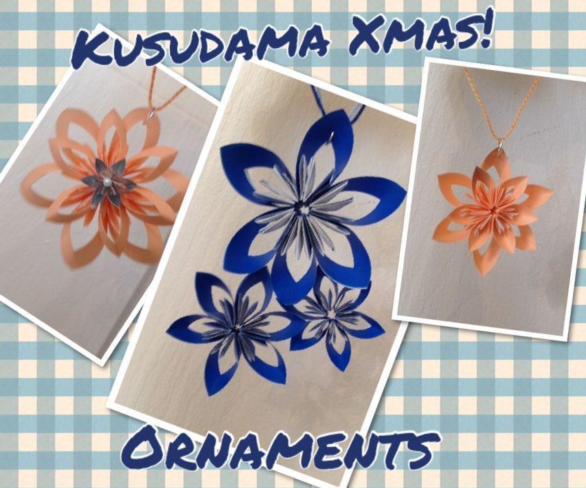 Kusudama Origami Christmas Onaments
