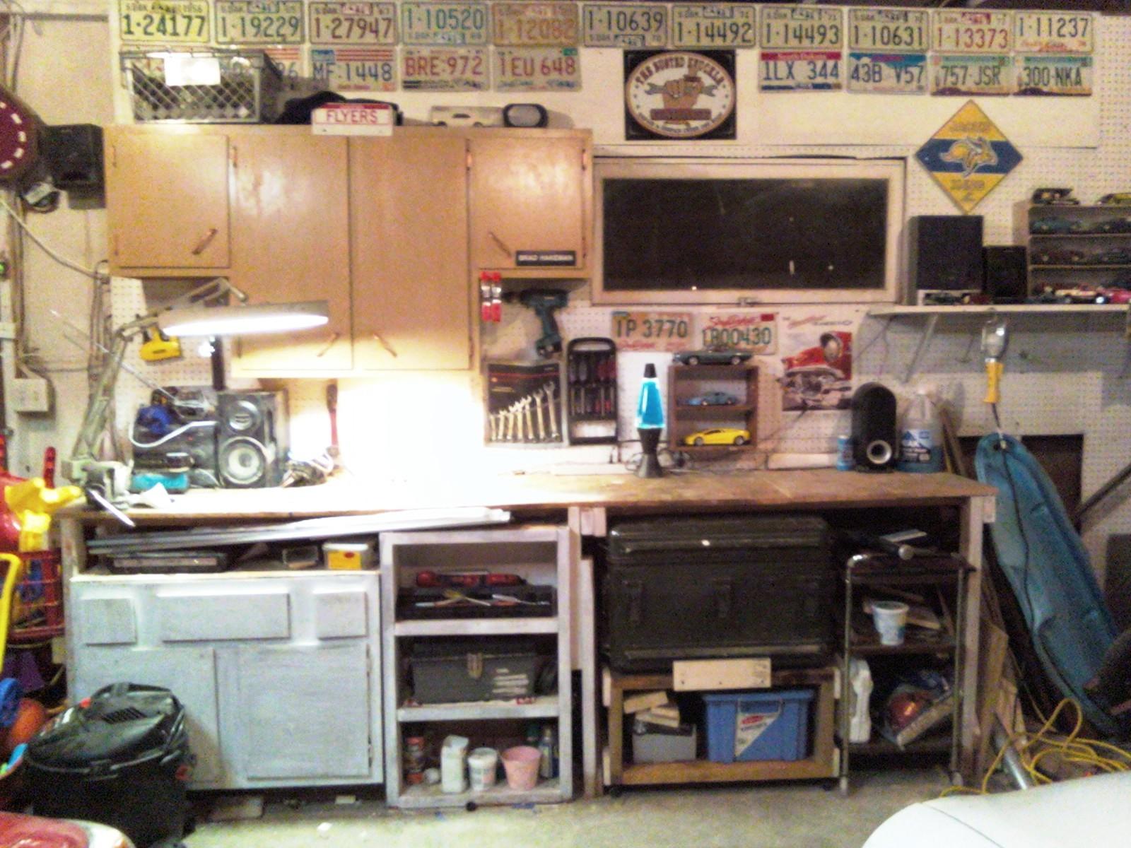 My 'Man Cave' (my workspace)