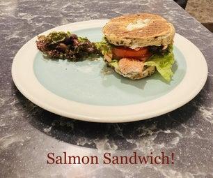 Mediterranean Salmon Sandwich