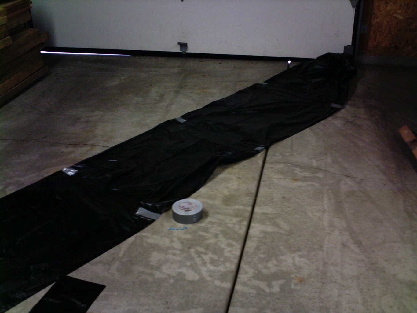 Tape the Garbage Bags