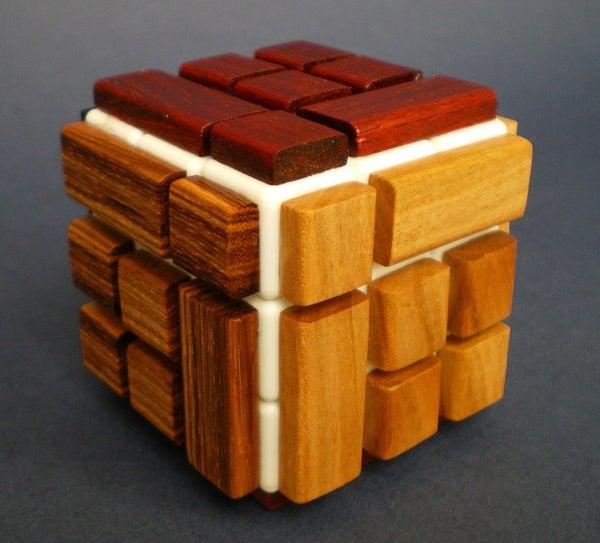 Wooden Bandaged Rubik Cube