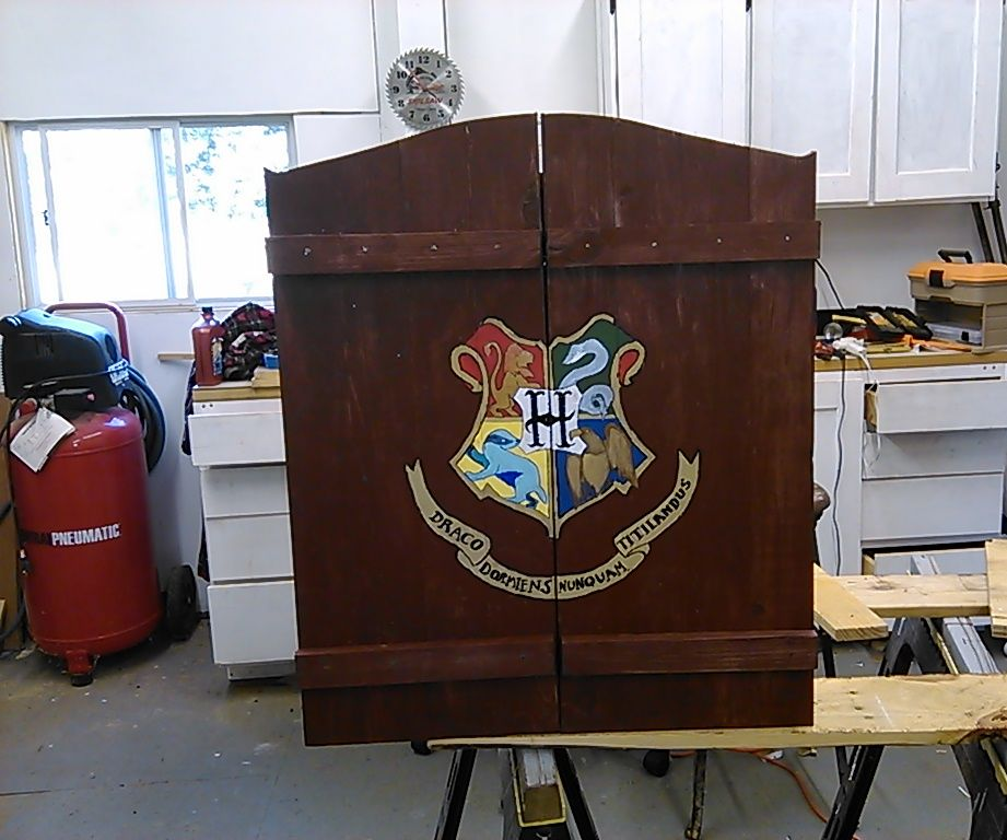 Hogwarts Dartboard Cabinet