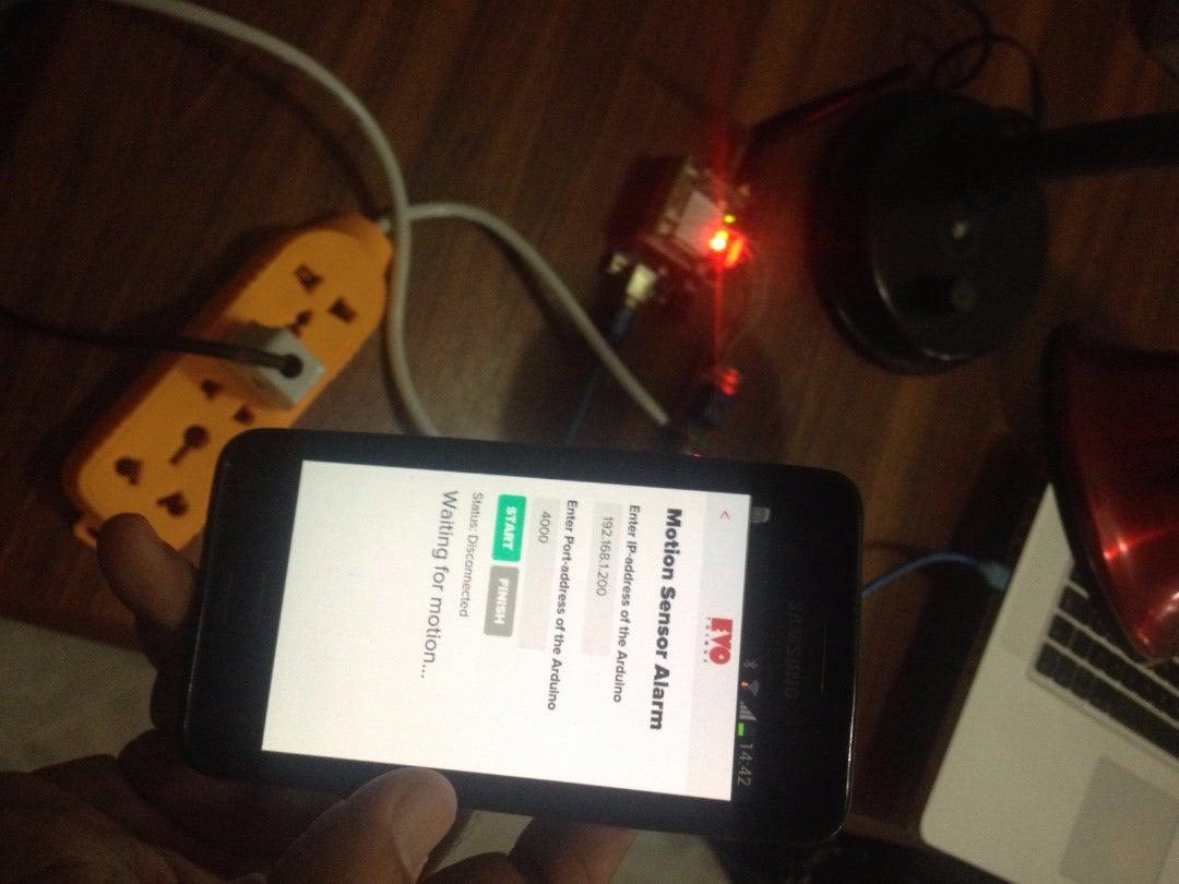 Using Smart Phone As Motion Sensor Alarm