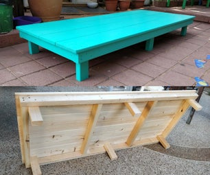 Simple Wooden Stage Platform for Kids