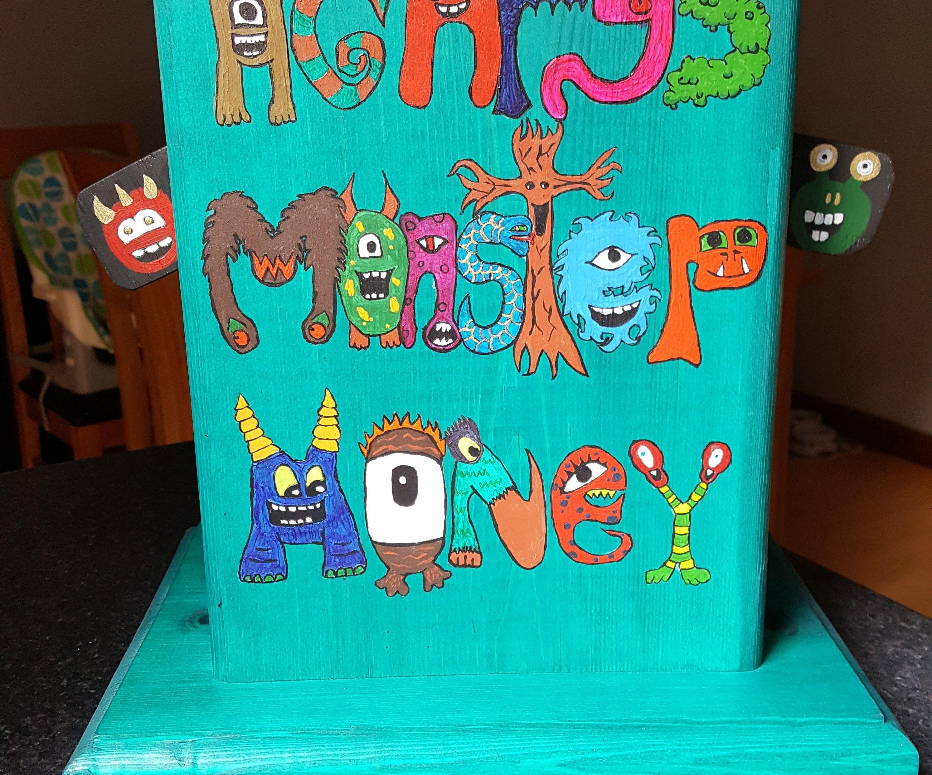 Moving Monster Moneybox