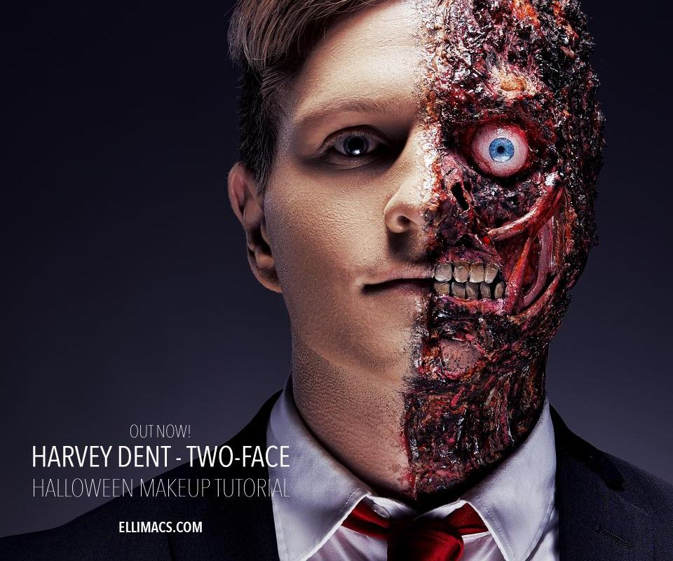 Harvey Dent - Two Face - SFX Makeup Tutorial (with