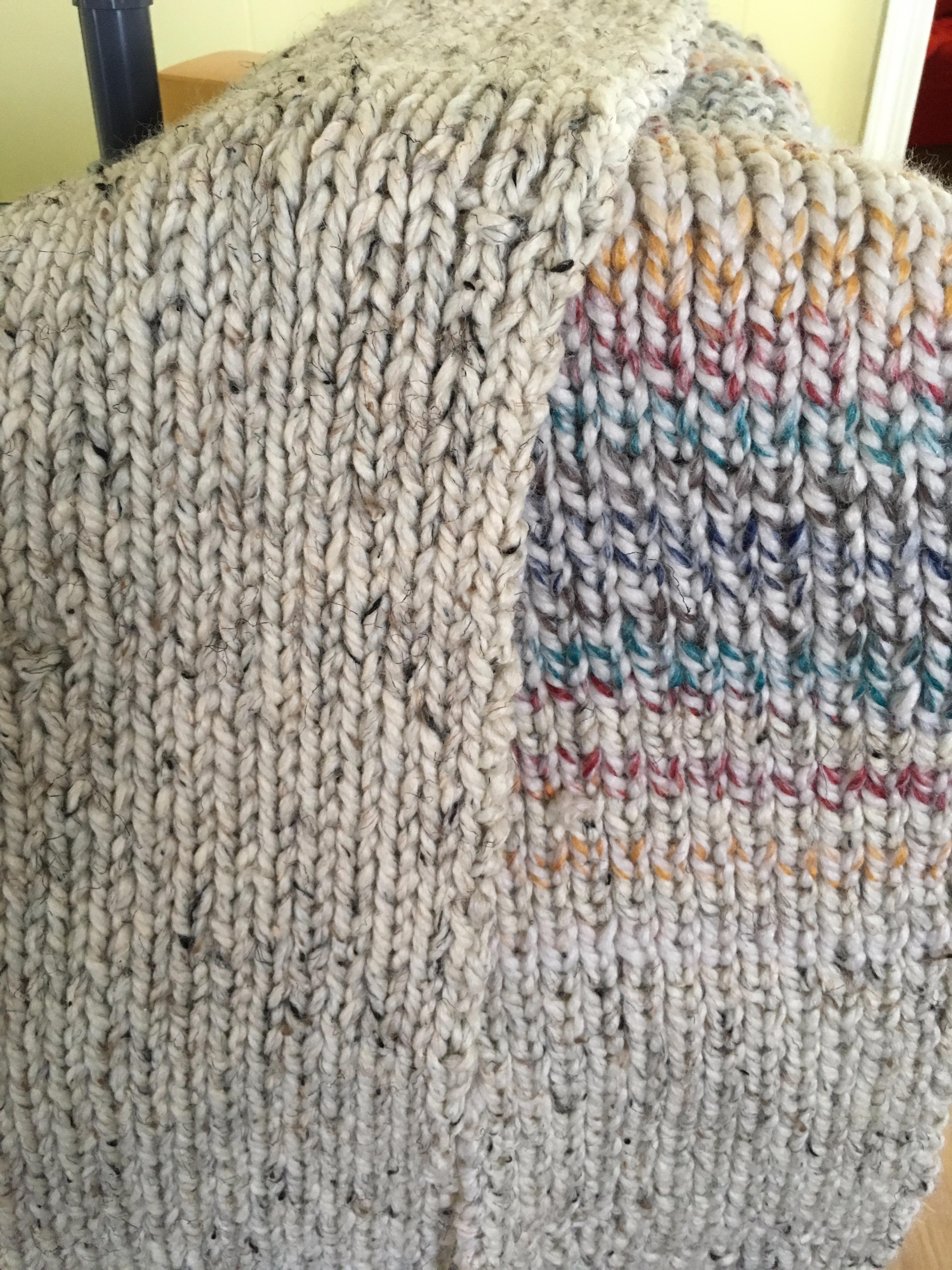 Second scarf: Purl stitch