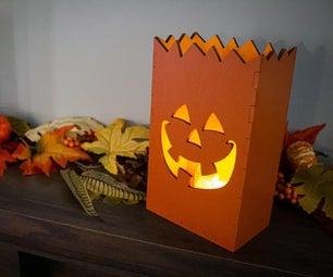 Making Halloween Luminary Boxes