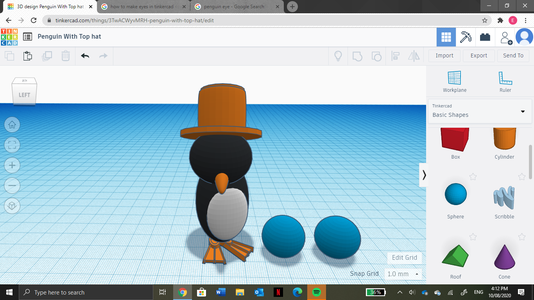 Collect Two Spheres From the Shape Tab.