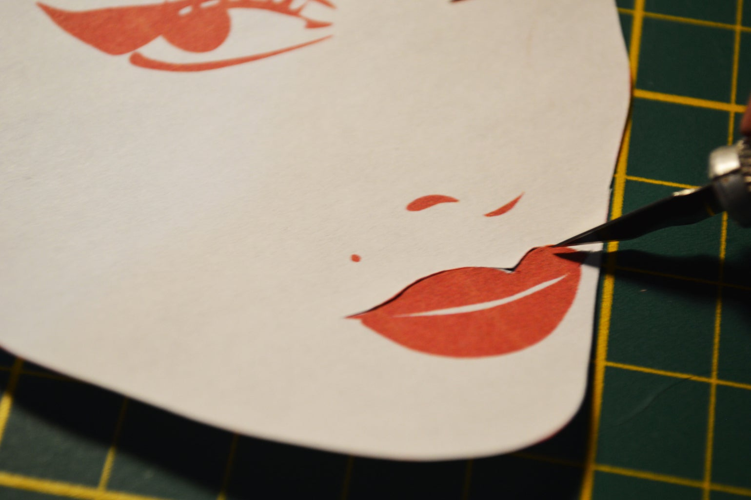 Create a Paper Stencil for Your Pizza