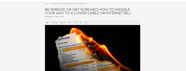Negotiate With Your ISP