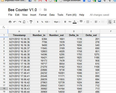 Data Logging on Google Docs