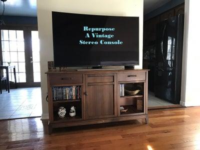 Repurposed Media Console