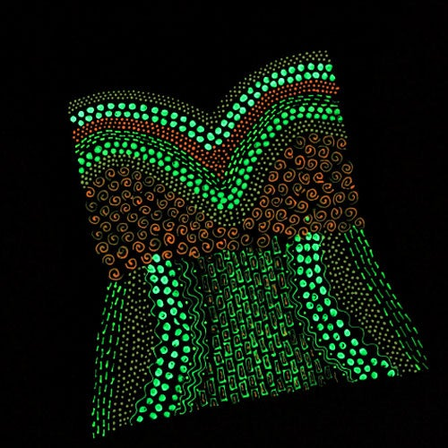 Glow-in-the-Dark Faux Corset