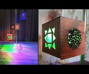 如何制作木桌灯|现代设计光灯|简易艺术与工艺品教程