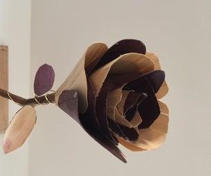 Wood Veneer Rose