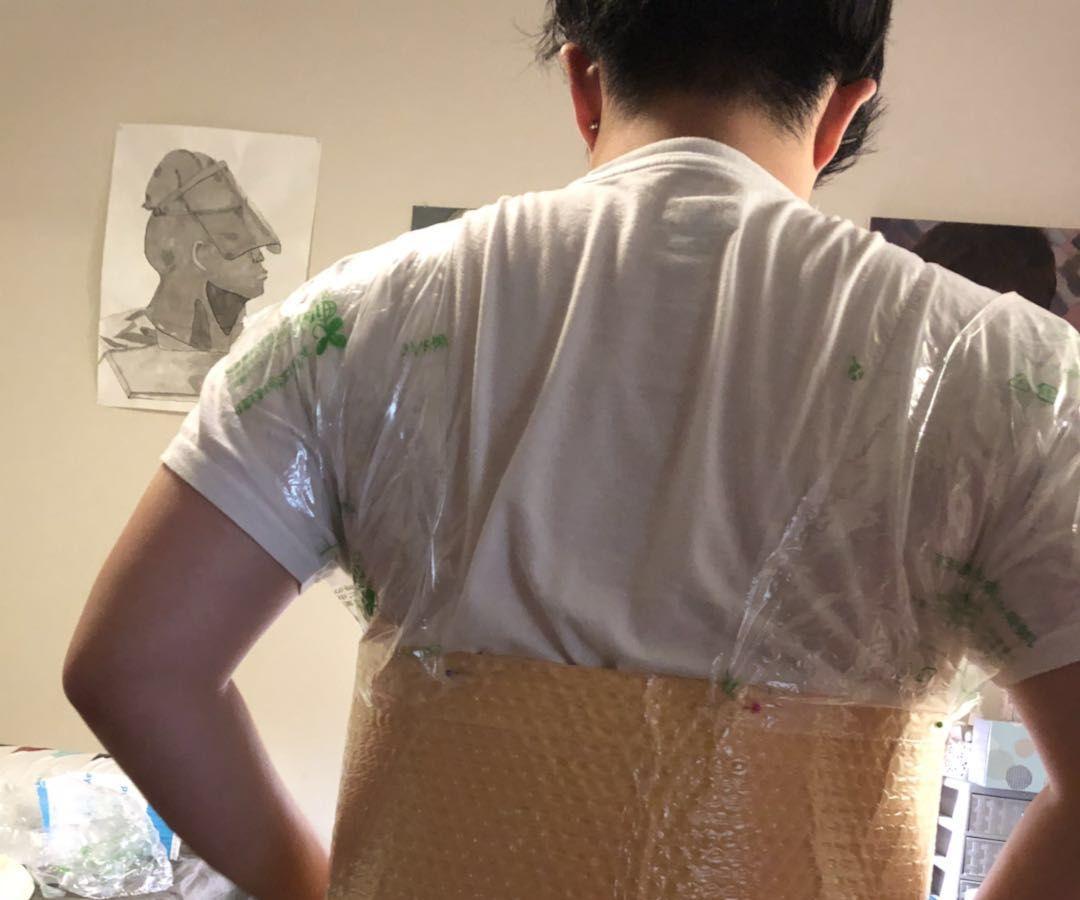 Water Resist Plastic Jacket (Material Reuse Idea)