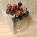 My not hanging cordless drill storage