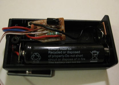 Putting the Circuit in the Battery Holder