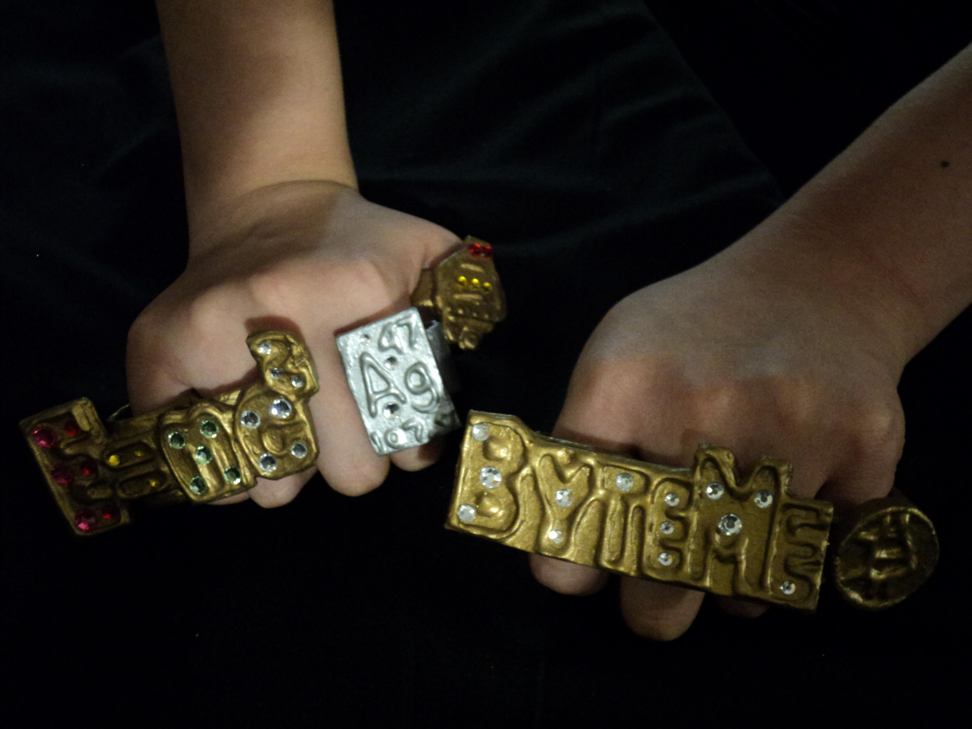 Gangsta Geek Cardboard Bling Rings