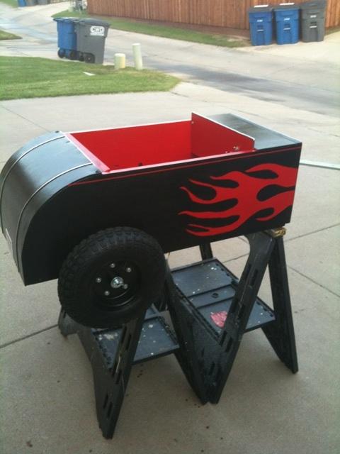 Hotrod bike trailer
