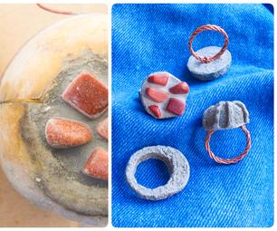 如何用土豆制作模具和铸造混凝土环(珠宝)