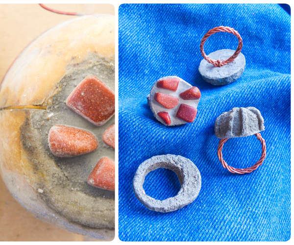 How to Make Molds From Potatoes and Cast Concrete Rings (Jewelries)