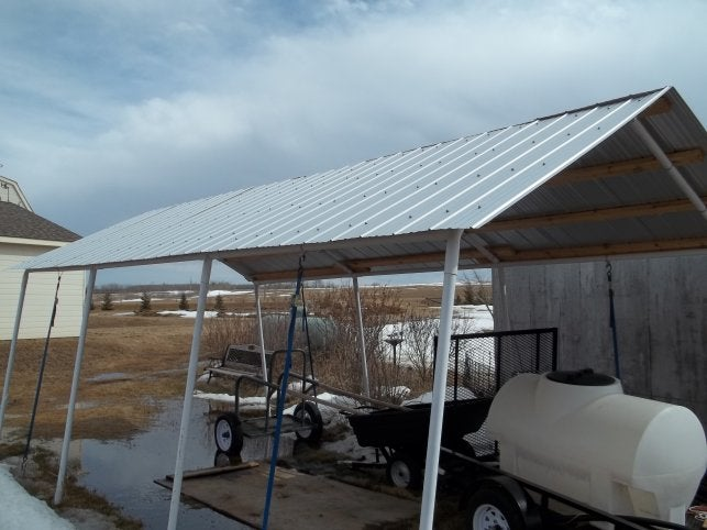 Replace Canvas Roof With Corrugated Steel 6 Steps Instructables