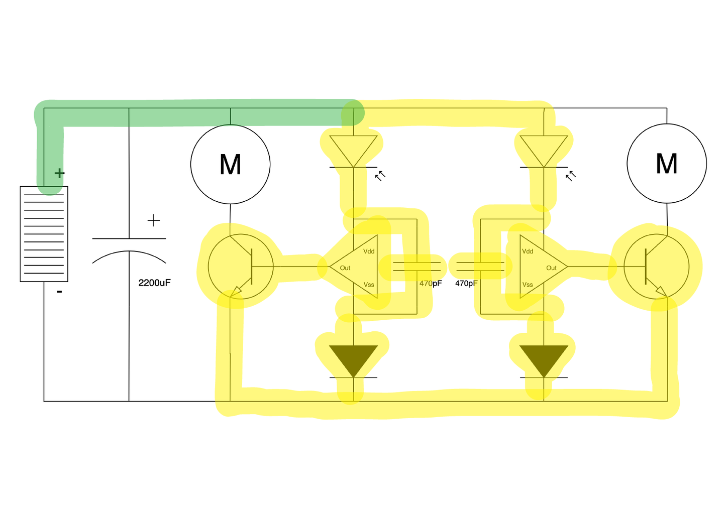 Freeforming the Circuit 10: Connecting Positive to the Solar Panel