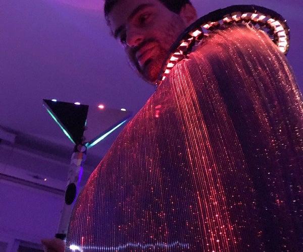 Living Rainbow- an Arduino Controlled Fiber Optic Cape