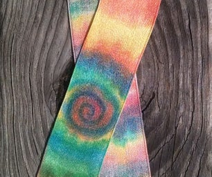 Rainbow Hand Painted Silk Ribbon