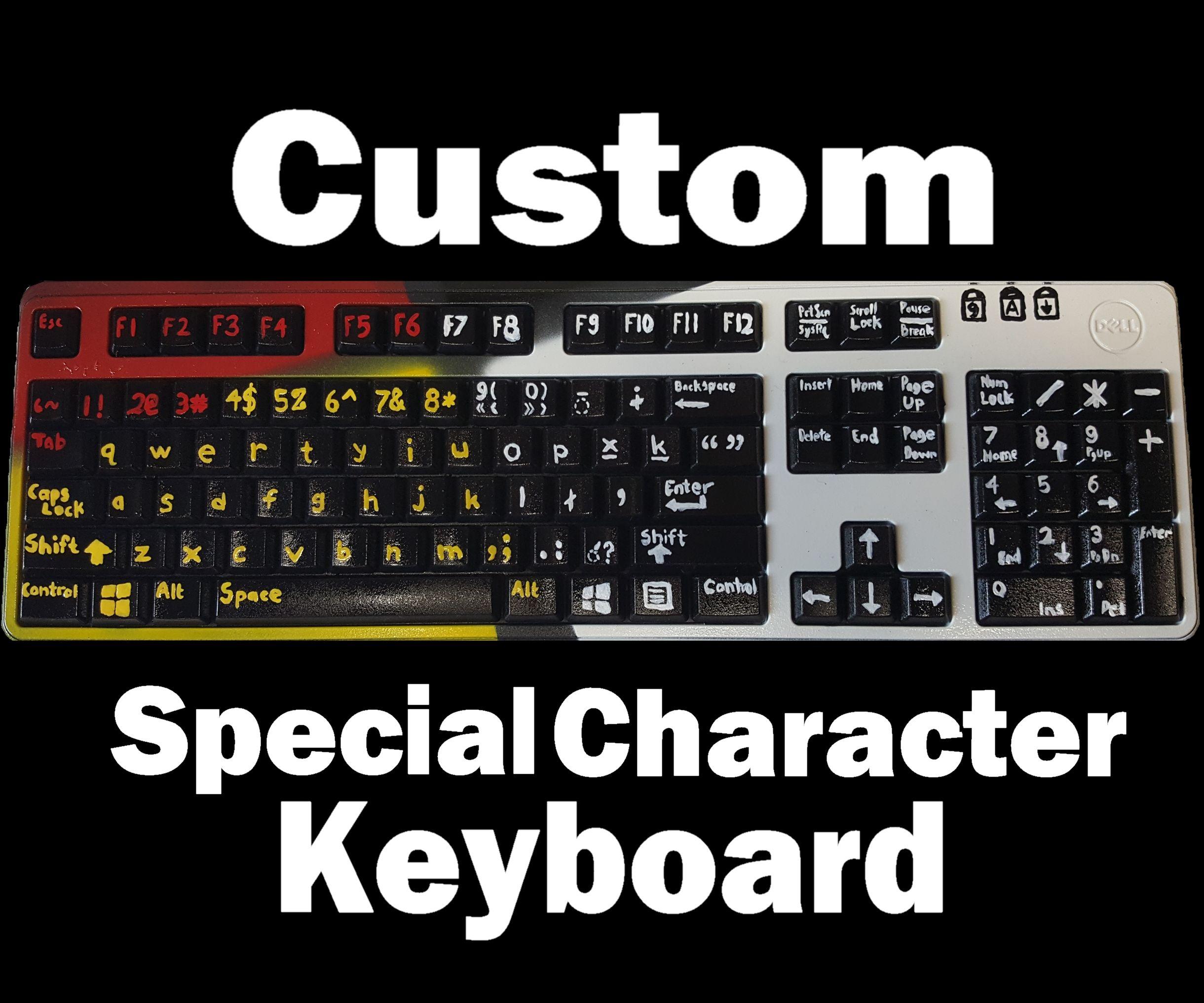 Custom Special Character Keyboard