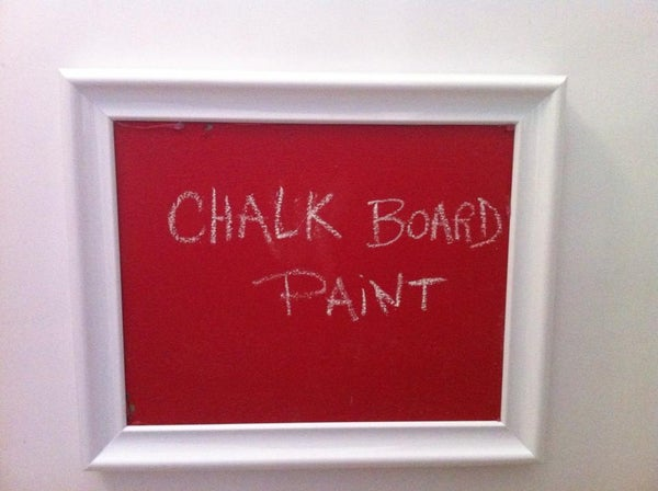 Chalk Board Paint How-to
